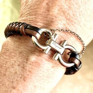 NEW BRAIDED LEATHER BRACELET WITH GIFT BAG